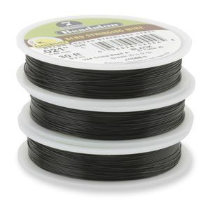 7STRD WIRE .015 BLACK 30 (0.38 mm, 9.2 m)