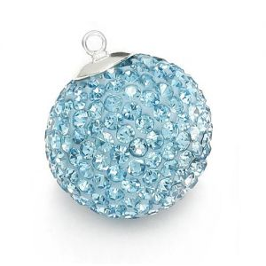 DISCOBALL AQUAMARINE 18 MM