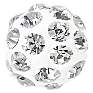 86001 MM10  WHITE (01) CRYSTAL ( 001)