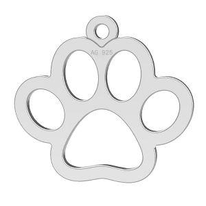 Câine labă pandantiv, argint 925, LK-0365 - 0,50