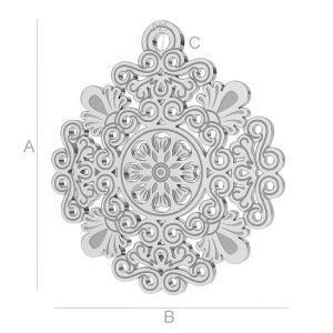 Ajurata de argint - LK-0562 - 0,50
