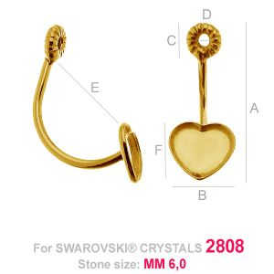 HKSV 2808 6MM Twist earring