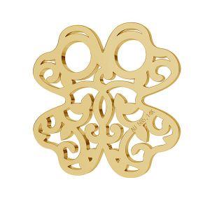 Trifoi 14K aur pandantiv LKZ-00006 - 0,30 mm
