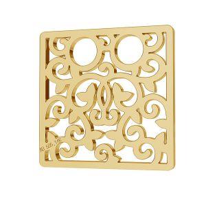 Pătrat 14K aur pandantiv LKZ-00009 - 0,30 mm