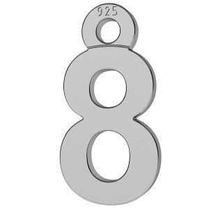 Cifră număr 8 pandantiv, LK-0713 - 0,50