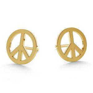 Simbol al păcii cercei 14K aur LKZ-00590 KLS - 0,30 mm