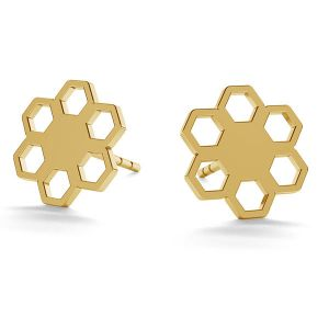Floare cercei 14K aur LKZ-00668 KLS - 0,30 mm