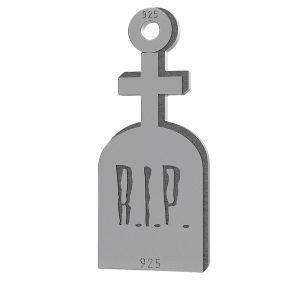 Piatră de mormânt halloween pandantiv, LK-1019 - 0,50