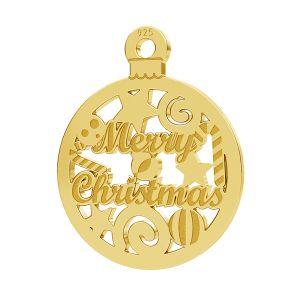 Merry Christmas pandantiv LK-1087 - 0,50