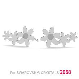 Floare cercei (2058 SS 7) LK-1179 KLS - 0,50