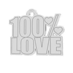 100% Love pandantiv, LK-1185 - 0,50
