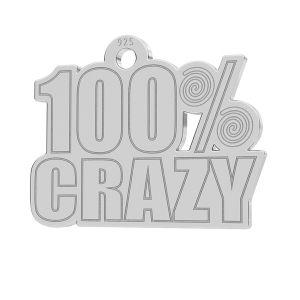 100% Crazy pandantiv, LK-1186 - 0,50