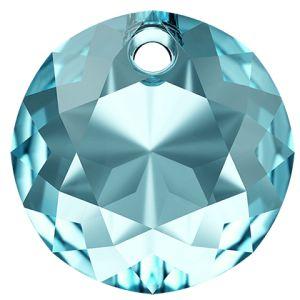 Classic Cut Pendant, Swarovski Crystals, 6430 MM 8,0 AQUAMARINE
