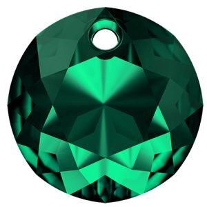 Classic Cut Pendant, Swarovski Crystals, 6430 MM 8,0 EMERALD