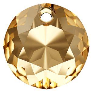 Classic Cut Pendant, Swarovski Crystals, 6430 MM 8,0 CRYSTAL GOLDEN SHADOW