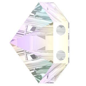 Hexagon Spike Bead, Swarovski Crystals, 5060 MM 7,5 CRYSTAL AB