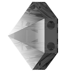 Hexagon Spike Bead, Swarovski Crystals, 5060 MM 7,5 CRYSTAL SILVER NIGHT