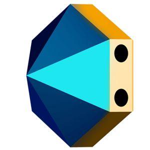 Hexagon Spike Bead, Swarovski Crystals, 5060 MM 7,5 CRYSTAL METALLIC BLUE