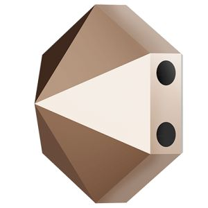 Hexagon Spike Bead, Swarovski Crystals, 5060 MM 7,5 CRYSTAL ROSE GOLD