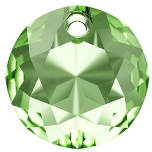Classic Cut Pendant, Swarovski Crystals, 6430 MM 14,0 PERIDOT