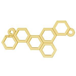 Fagure de miere pandantiv, 14K aur, LKZ-00348 - 0,30