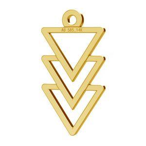 Triunghi pandantiv, 14K aur, LKZ-00434 - 0,30