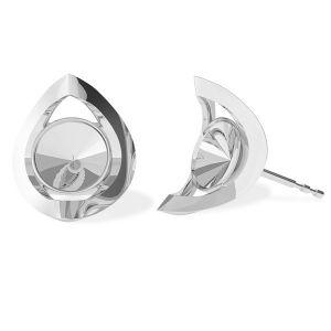 Rundă cercei, argint 925, ODL-00360 KLS (1122 SS 29)