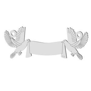 Nuntă porumbel pandantiv, sterling argint 925, LK-1366 - 0,50