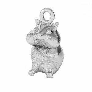 Hamster pandantiv, sterling argint, ODL-00375