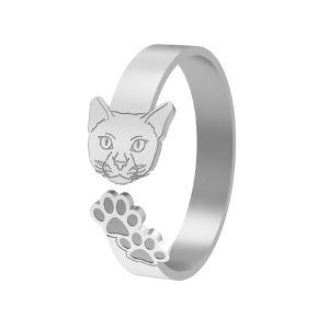 Pisică inel, argint 925, LK-1402 - 0,50