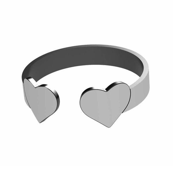 Inimă inel, argint 925, LK-1404 - 0,50