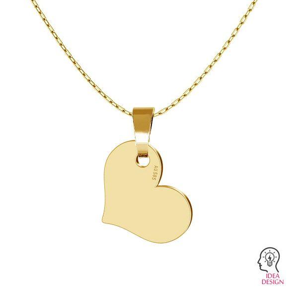 Inimă pandantiv 14K aur LKZ-00573 - 0,30