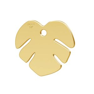 Lotus floare pandantiv 14K aur LKZ-00809 - 0,30