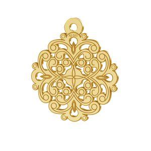 Rozetă pandantiv, 14K aur, LKZ-00382 - 0,30