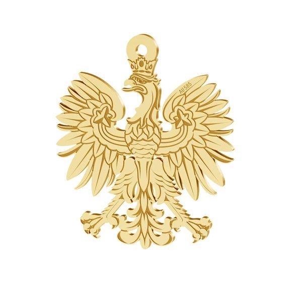 Trifoi pandantiv 14K aur LKZ-00471 - 0,30