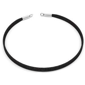 Choker alcantara colier de bază S-CHAIN 25 - 36 cm