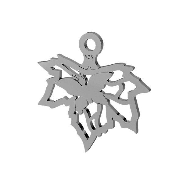 Frunze de fluture pandantiv, sterling argint 925, LK-1472 - 0,50