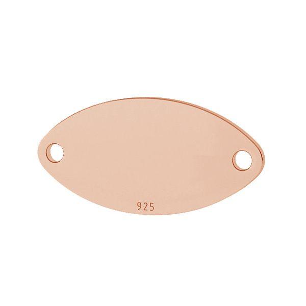 Oval pandantiv sterling argint, LKM-2026