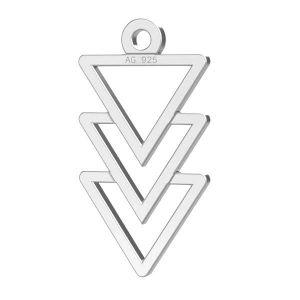 Triunghi pandantiv sterling argint, LKM-2036