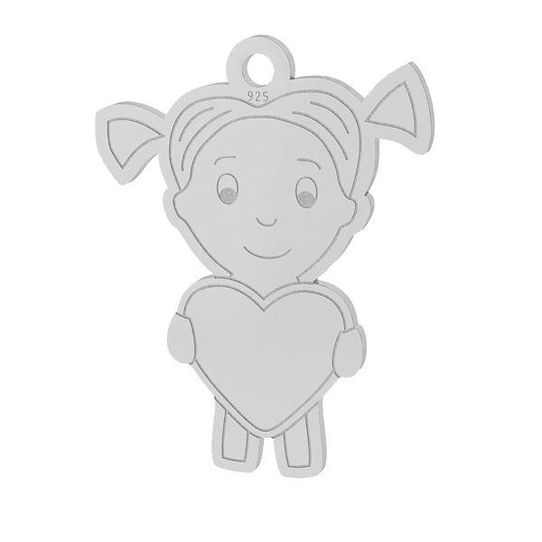 fFată inimă pandantiv sterling argint, LKM-2047
