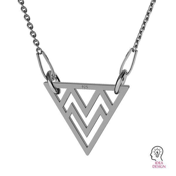Triunghi pandantiv sterling argint, LKM-2049