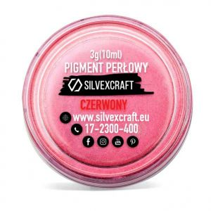 Pigment perlat - rosu, 3 g