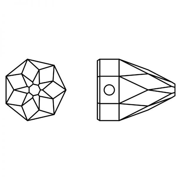 3297 MM 7,0X 7,0 BLACK DIAMOND SHIMMER F