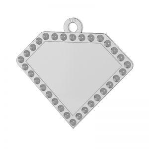 Diamant pandantiv argint, LKM-2142 - 0,80 (1028 PP 4)
