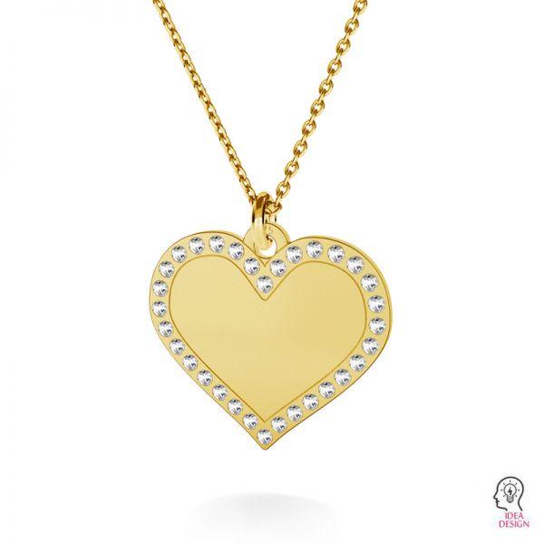 Inimă pandantiv argint, LKM-2139 - 0,80 ver.2