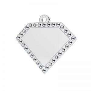Diamant pandantiv argint, LKM-2142 - 0,80 ver.2