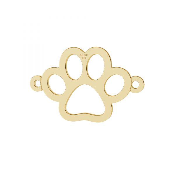Câine labă pandantiv, 14K aur, LKZ-00366 - 0,30