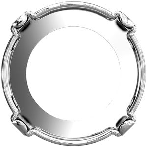1122/S MM 12,0 3PH2OH - Rhodium Plating Tombac