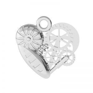Inimă mecanică pandantiv argint, ODL-00521