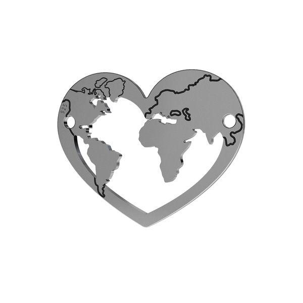 Inimă pandantiv argint, LK-1483 - 0,50